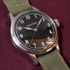 JAEGER-LE COULTRE Black Dial Military style