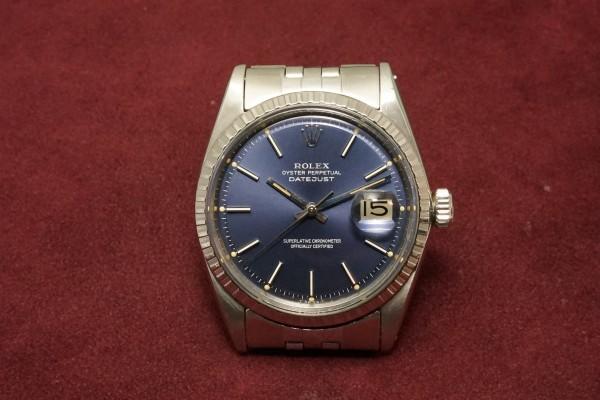 ロレックス DATEJAST Ref-1603 Blue Dial(RO-09/1967年)の詳細写真2枚目