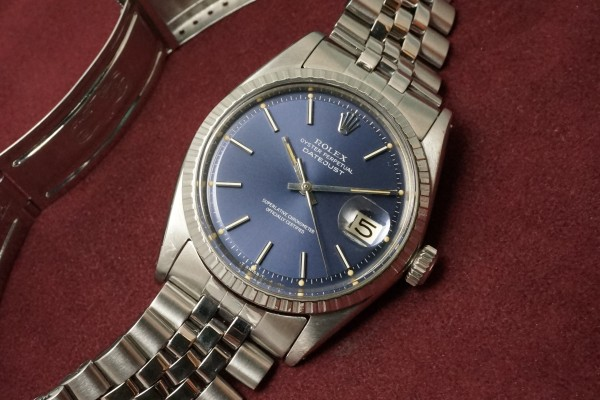ロレックス DATEJAST Ref-1603 Blue Dial(RO-09/1967年)の詳細写真5枚目