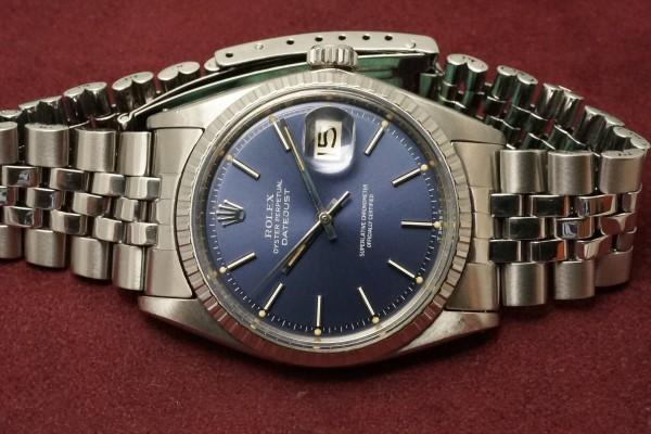 ロレックス DATEJAST Ref-1603 Blue Dial(RO-09/1967年)の詳細写真6枚目