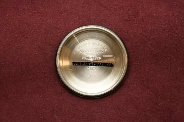 ロレックス DATEJAST Ref-1603 Blue Dial(RO-09/1967年)の詳細写真11枚目
