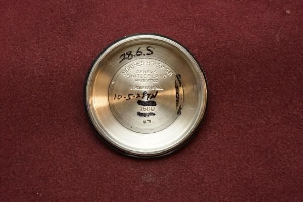 ロレックス DATEJAST Ref-1600 Blue fat Index(RO-12/1971年)の詳細写真11枚目