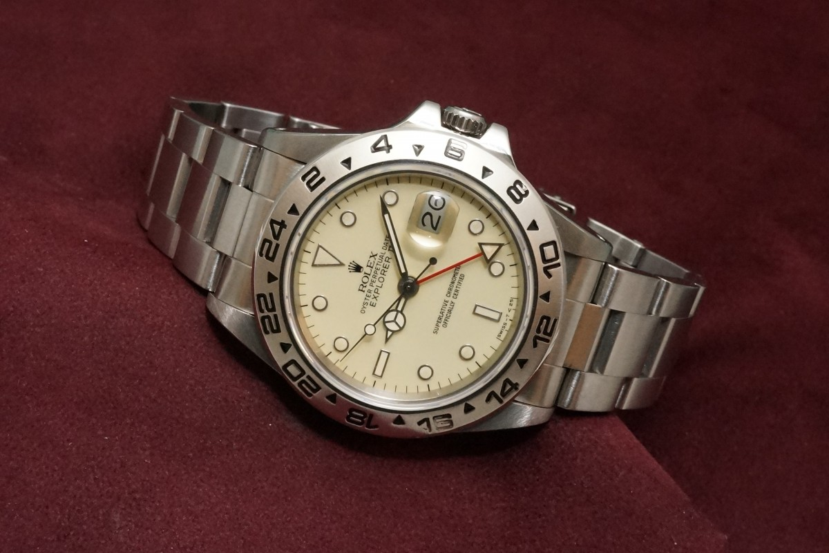 save off a48a2 0fd3b ロレックス EXPLORERⅡ Ref-16550 Ivory Center Split Dial(RS ...