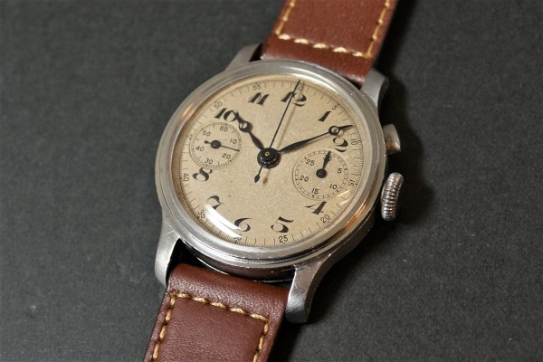 Anonymous クロノグラフ Breguet numerals Step Case(CH-01/1930s)の詳細写真1枚目