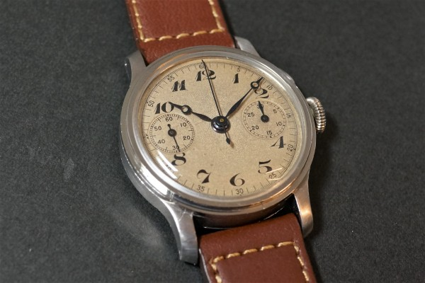 Anonymous クロノグラフ Breguet numerals Step Case(CH-01/1930s)の詳細写真2枚目