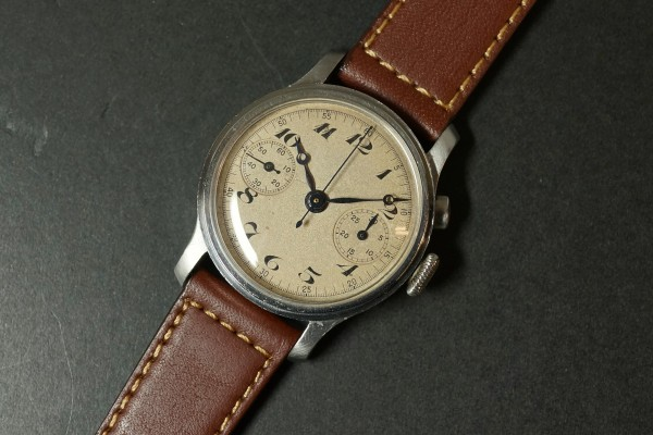 Anonymous クロノグラフ Breguet numerals Step Case(CH-01/1930s)の詳細写真4枚目
