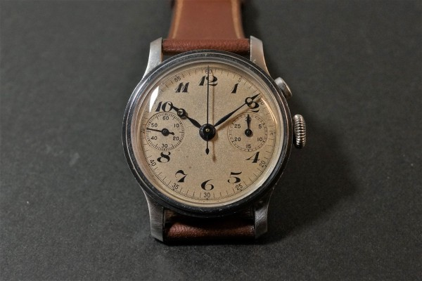 Anonymous クロノグラフ Breguet numerals Step Case(CH-01/1930s)の詳細写真5枚目