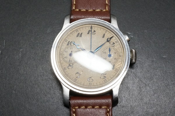 Anonymous クロノグラフ Breguet numerals Step Case(CH-01/1930s)の詳細写真6枚目