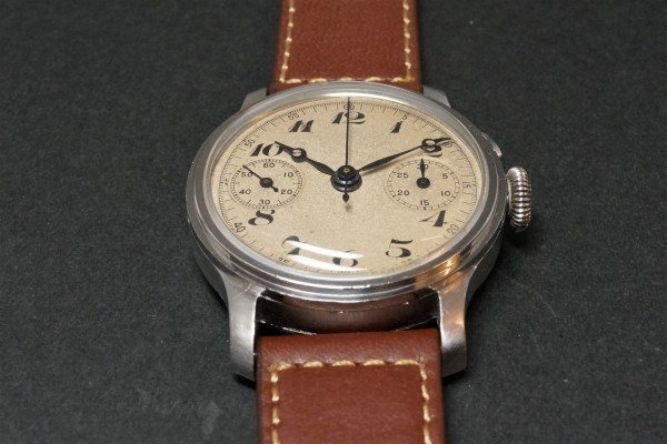 Anonymous クロノグラフ Breguet numerals Step Case(CH-01/1930s)の詳細写真9枚目