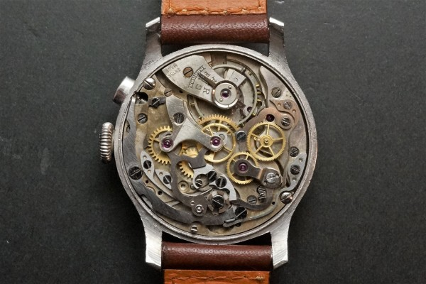Anonymous クロノグラフ Breguet numerals Step Case(CH-01/1930s)の詳細写真16枚目