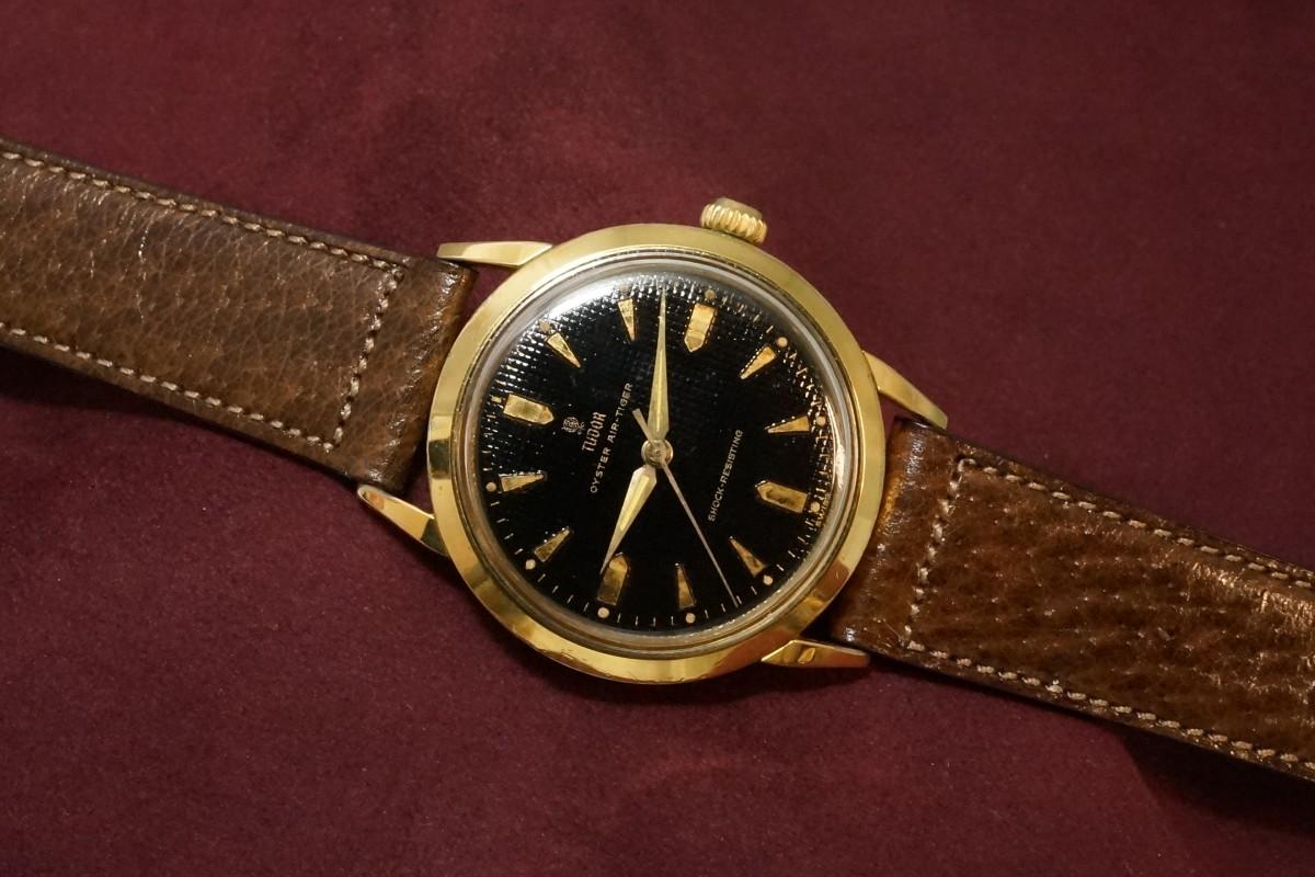チュードル AIR-TIGER Ref-7957 Honeycomb/Gilt Dial Near Mint-condition!(RO-42/1960年)