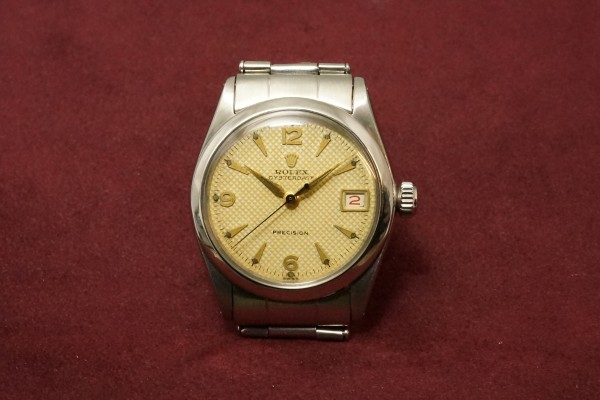 ロレックス BOY'S OYSTERDATE Ref-6466 Honeycomb Dial Near Mint-condition!(RO-50/1955年)の詳細写真2枚目