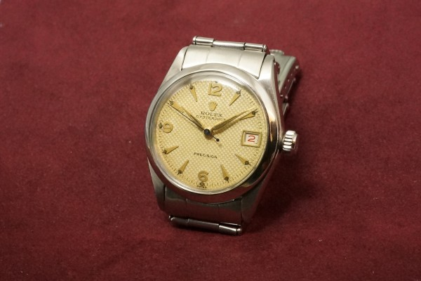 ロレックス BOY'S OYSTERDATE Ref-6466 Honeycomb Dial Near Mint-condition!(RO-50/1955年)の詳細写真3枚目