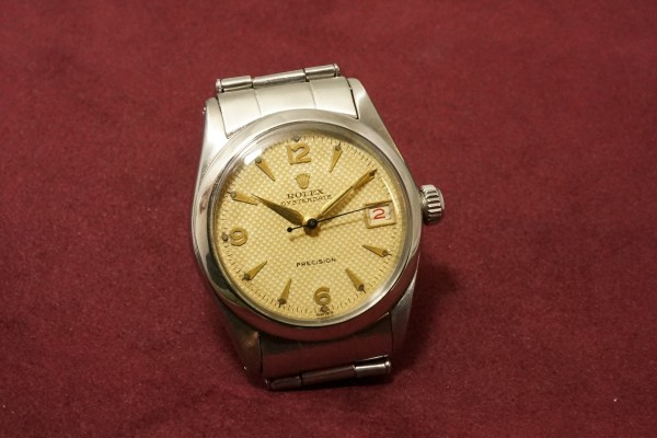 ロレックス BOY'S OYSTERDATE Ref-6466 Honeycomb Dial Near Mint-condition!(RO-50/1955年)の詳細写真4枚目