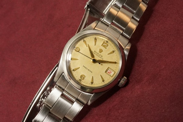 ロレックス BOY'S OYSTERDATE Ref-6466 Honeycomb Dial Near Mint-condition!(RO-50/1955年)の詳細写真5枚目