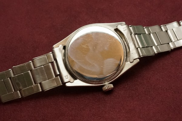 ロレックス BOY'S OYSTERDATE Ref-6466 Honeycomb Dial Near Mint-condition!(RO-50/1955年)の詳細写真8枚目