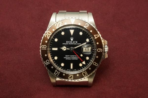 ロレックス GMTマスター Ref-16750 Metal Frame Index & Brown Bezel(RS-61/1985年)の詳細写真2枚目