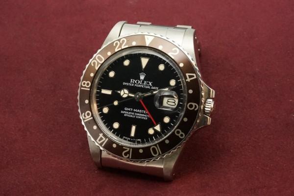 ロレックス GMTマスター Ref-16750 Metal Frame Index & Brown Bezel(RS-61/1985年)の詳細写真3枚目
