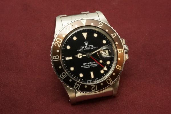 ロレックス GMTマスター Ref-16750 Metal Frame Index & Brown Bezel(RS-61/1985年)の詳細写真4枚目