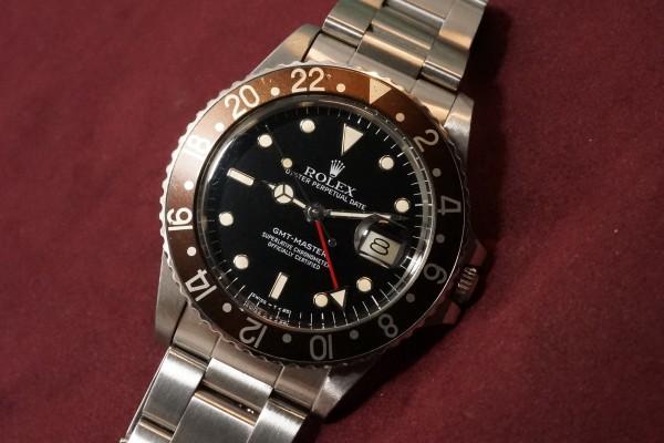 ロレックス GMTマスター Ref-16750 Metal Frame Index & Brown Bezel(RS-61/1985年)の詳細写真5枚目