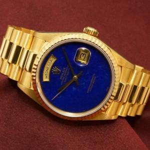 ロレックス デイデイト Ref-18038YG Lapis Lazuli Dial