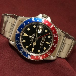 ロレックス GMTマスター Ref-1675 Gilt/Gloss Dial