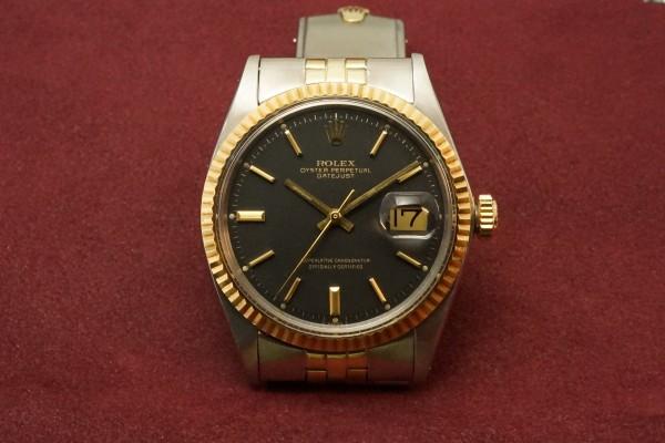 ロレックス デイトジャスト Ref-1601 SS×YG Matte Black Dial Guarantee(RO-63/1969年)の詳細写真2枚目