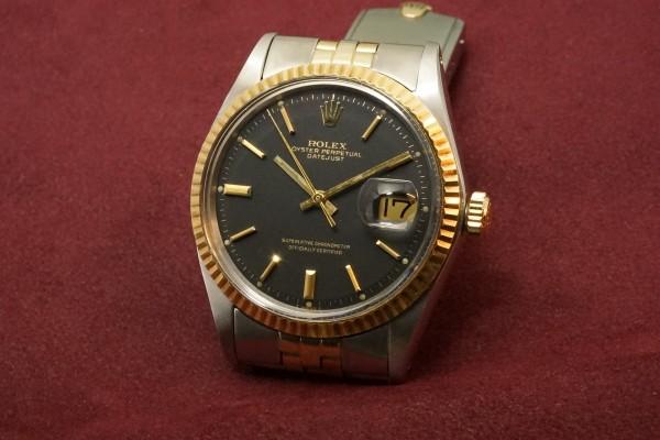 ロレックス デイトジャスト Ref-1601 SS×YG Matte Black Dial Guarantee(RO-63/1969年)の詳細写真3枚目