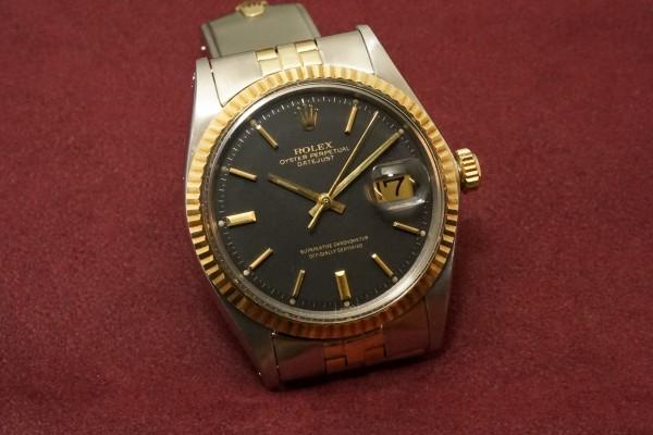ロレックス デイトジャスト Ref-1601 SS×YG Matte Black Dial Guarantee(RO-63/1969年)の詳細写真4枚目