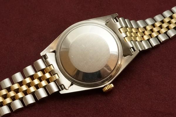 ロレックス デイトジャスト Ref-1601 SS×YG Matte Black Dial Guarantee(RO-63/1969年)の詳細写真8枚目