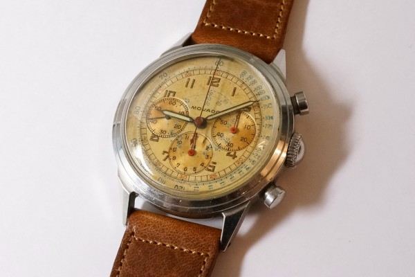 MOVADO Waterproof クロノグラフ  Borgel Case Early Tropical Dial(CH-02/1960s)の詳細写真1枚目