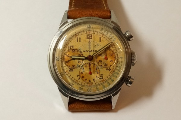 MOVADO Waterproof クロノグラフ  Borgel Case Early Tropical Dial(CH-02/1960s)の詳細写真4枚目