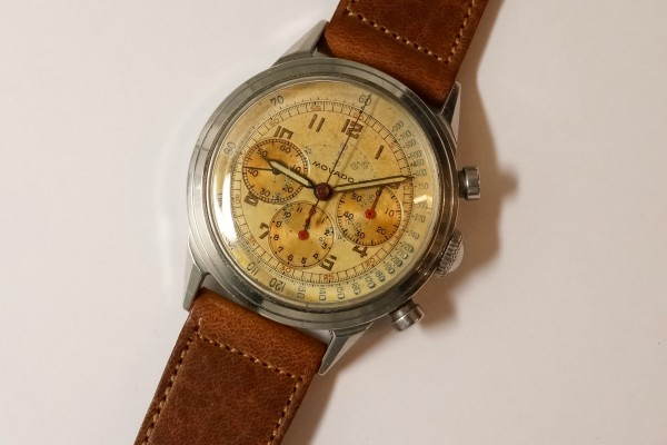 MOVADO Waterproof クロノグラフ  Borgel Case Early Tropical Dial(CH-02/1960s)の詳細写真5枚目