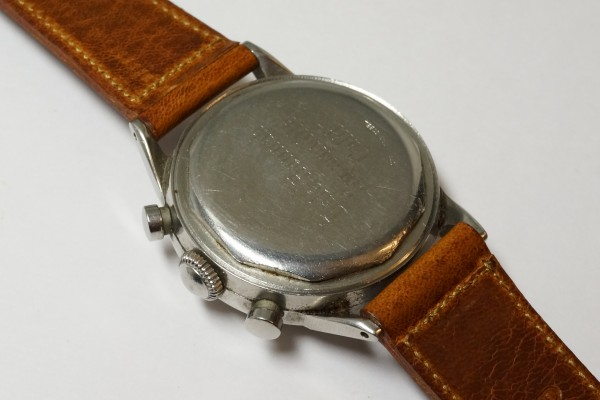 MOVADO Waterproof クロノグラフ  Borgel Case Early Tropical Dial(CH-02/1960s)の詳細写真13枚目