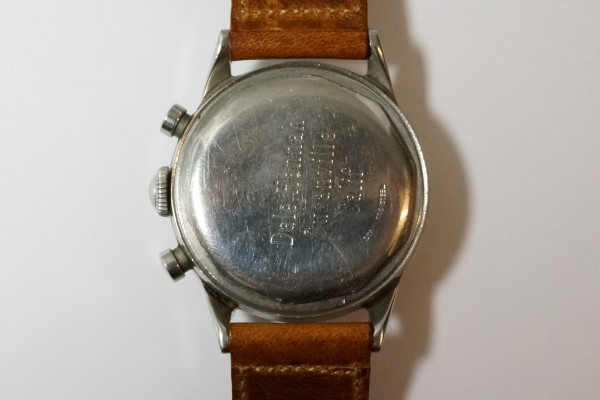 MOVADO Waterproof クロノグラフ  Borgel Case Early Tropical Dial(CH-02/1960s)の詳細写真14枚目