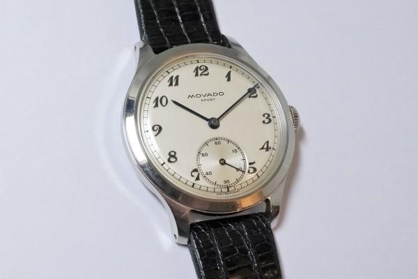 MOVADO Borgel Case Blue Breguet numerals dial Rare(OT-03/1940s)の詳細写真2枚目