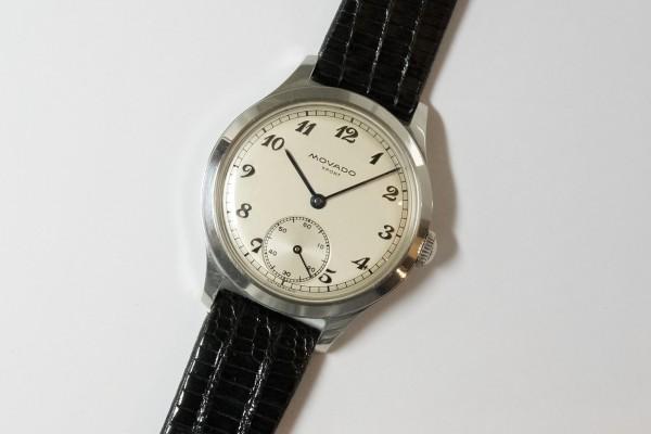 MOVADO Borgel Case Blue Breguet numerals dial Rare(OT-03/1940s)の詳細写真5枚目