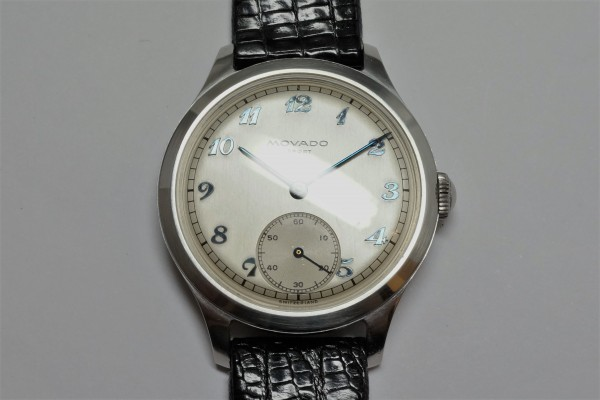 MOVADO Borgel Case Blue Breguet numerals dial Rare(OT-03/1940s)の詳細写真6枚目