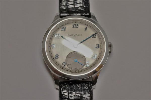 MOVADO Borgel Case Blue Breguet numerals dial Rare(OT-03/1940s)の詳細写真7枚目