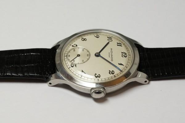 MOVADO Borgel Case Blue Breguet numerals dial Rare(OT-03/1940s)の詳細写真8枚目