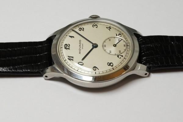 MOVADO Borgel Case Blue Breguet numerals dial Rare(OT-03/1940s)の詳細写真9枚目