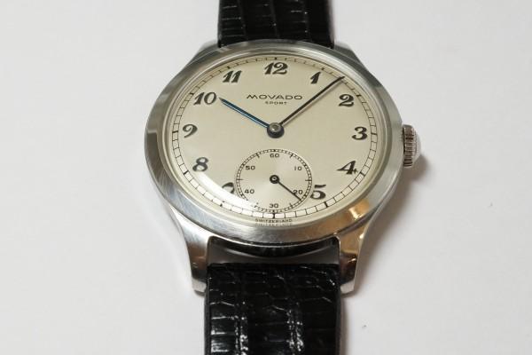 MOVADO Borgel Case Blue Breguet numerals dial Rare(OT-03/1940s)の詳細写真10枚目