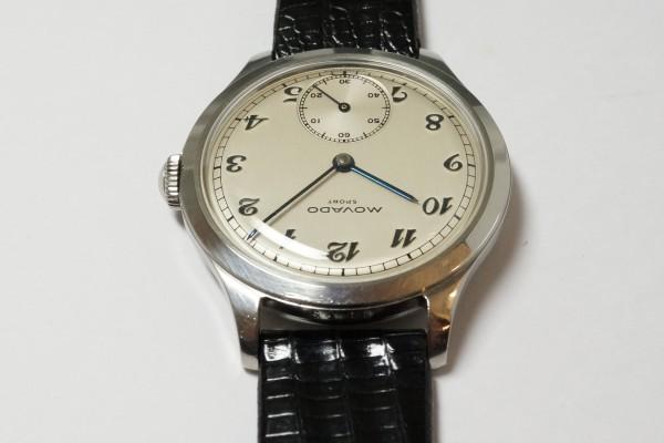 MOVADO Borgel Case Blue Breguet numerals dial Rare(OT-03/1940s)の詳細写真11枚目
