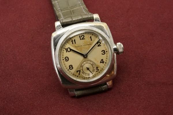 ロレックス OYSTER CUSHION Case CRISS CROSS Dial(RO-73/1930s)の詳細写真5枚目