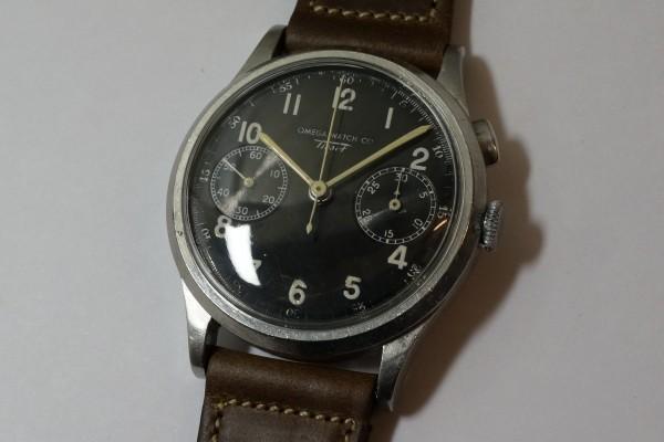オメガ WATCH CO ティソ クロノグラフ Cal.15TL(CH-01/1930s)の詳細写真1枚目