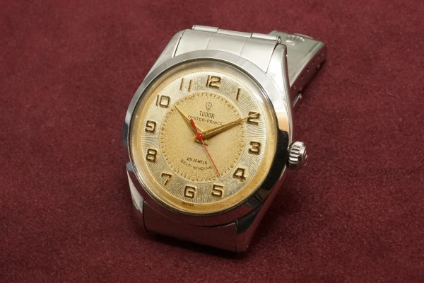 チュードル OYSTER PRINCE Ref-7965 Small Rose All Arabic Dial(RO-77/1959年)の詳細写真3枚目