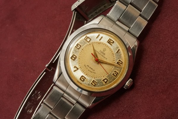 チュードル OYSTER PRINCE Ref-7965 Small Rose All Arabic Dial(RO-77/1959年)の詳細写真5枚目