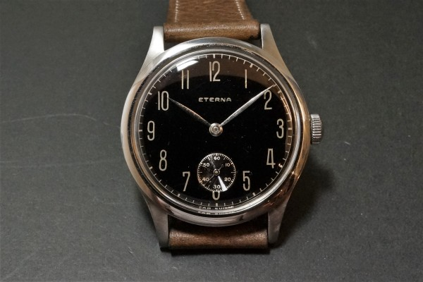ETERNA Black Gilt Mirror Dial Cal.852 Big Case(OT-02/1940s)の詳細写真5枚目