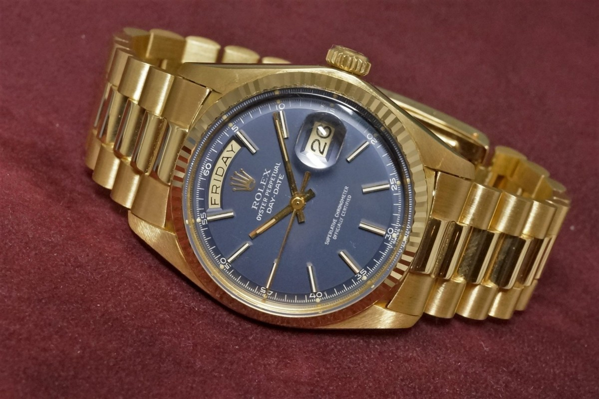 best loved b92cd 3bd8b ロレックス デイデイト REF.1803 BLUE DIAL MINT!(OT-06 ...