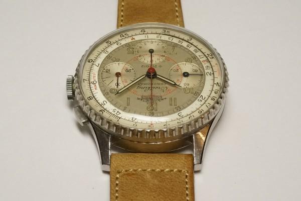 BREITLING CHRONOMAT 1ST REF.786 KRONOMETER STOCKHOLM  3 REGISTER RARE(CH-01/1945年)の詳細写真9枚目